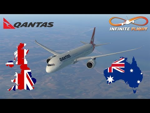 [Kangaroo Route] Infinite Flight GLOBAL: Perth PER To London LHR | TIMELAPSE | QANTAS | Boeing 787