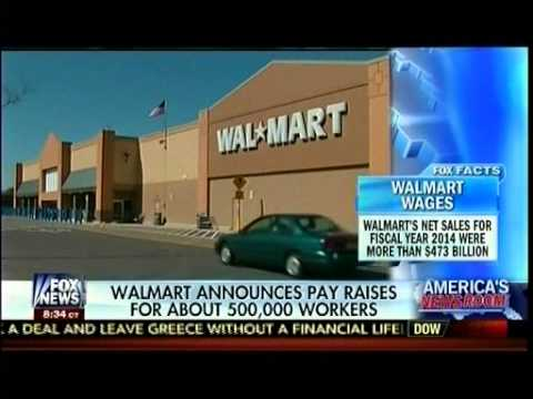 Walmart Announces Pay Raises For About 500,000 Workers - Stuart Varney - America's Newsroom