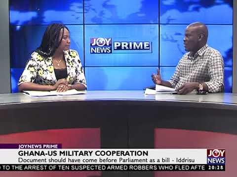 Haruna Iddrisu : GHANA-US Military Cooperation - JoyNews Prime (5-4-18)
