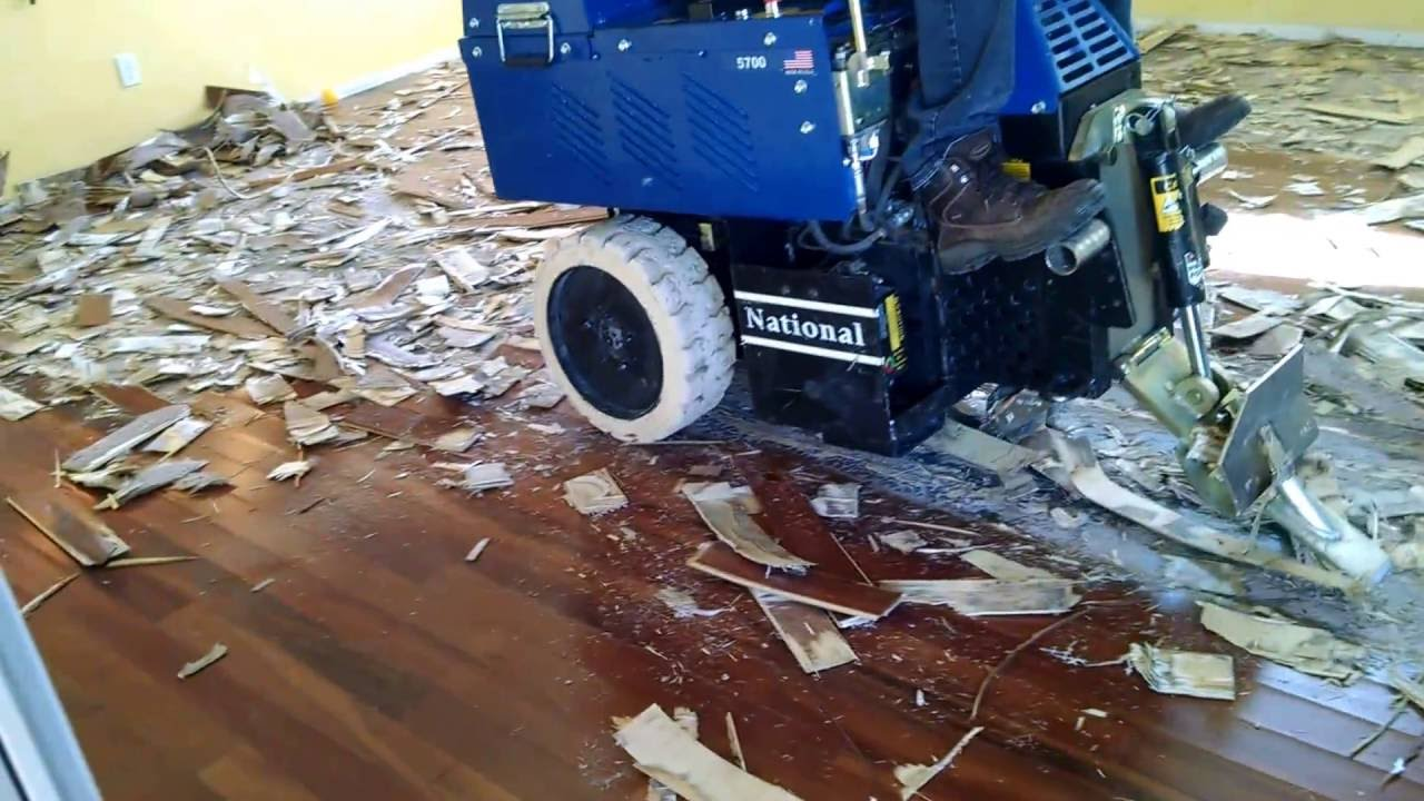 Removal Of Glue Down Wood Flooring In
