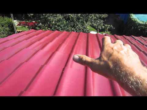 Как ровно положить профнастил на крышу
