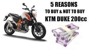 5 Reasons To Buy And Not To Buy KTM Duke 200cc