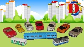 Распаковка и обзор новых машинок Kinsmart и городского транспорта Технопарк