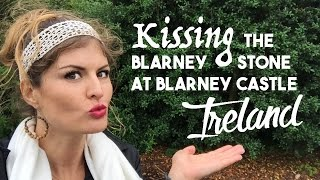 Kissing The Blarney Stone at Blarney Castle Ireland