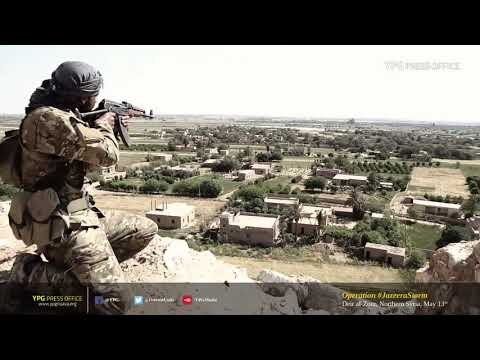 Footage of the Syrian Democratic Forces capturing Baghuz Tahtani from the Islamic State