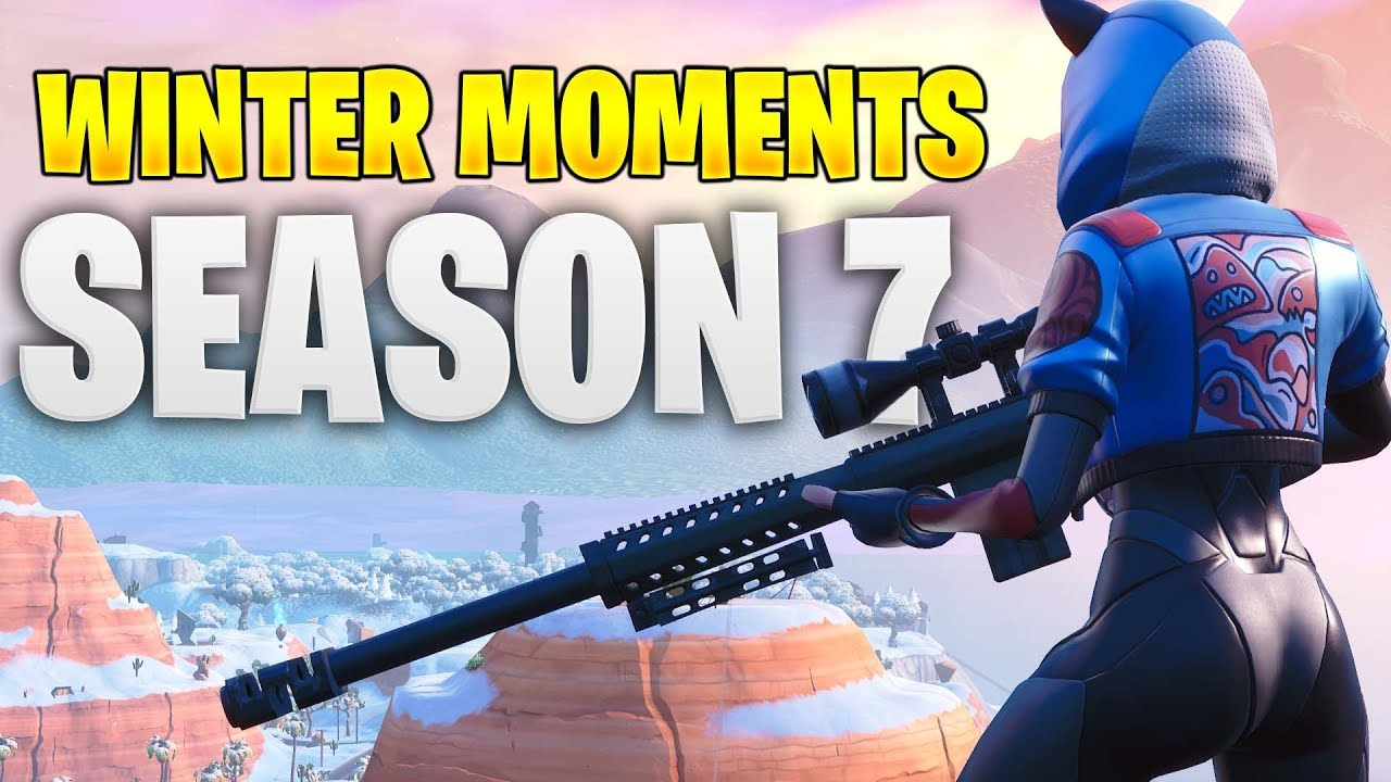 Fortnite Season 7 Winter Best Moments 2019 Awesome Snipes Youtube