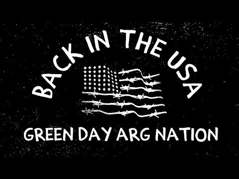 Back In The USA - Green Day (Lyric Video)