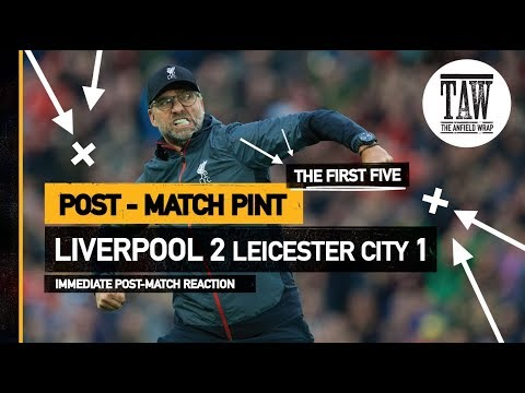rpool 2 Leicester City 1  Post-Match Pint  Five Minute Taster