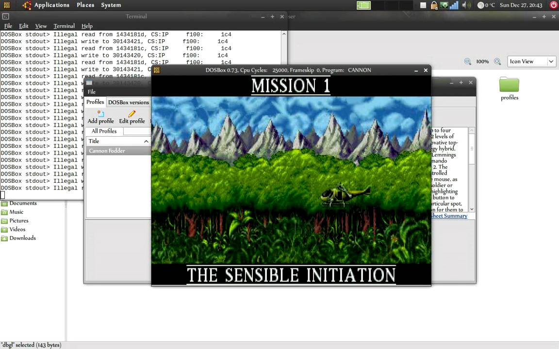 How To Dosbox With Gui Frontend Dbgl In Linux Ubuntu Mint Debian Youtube