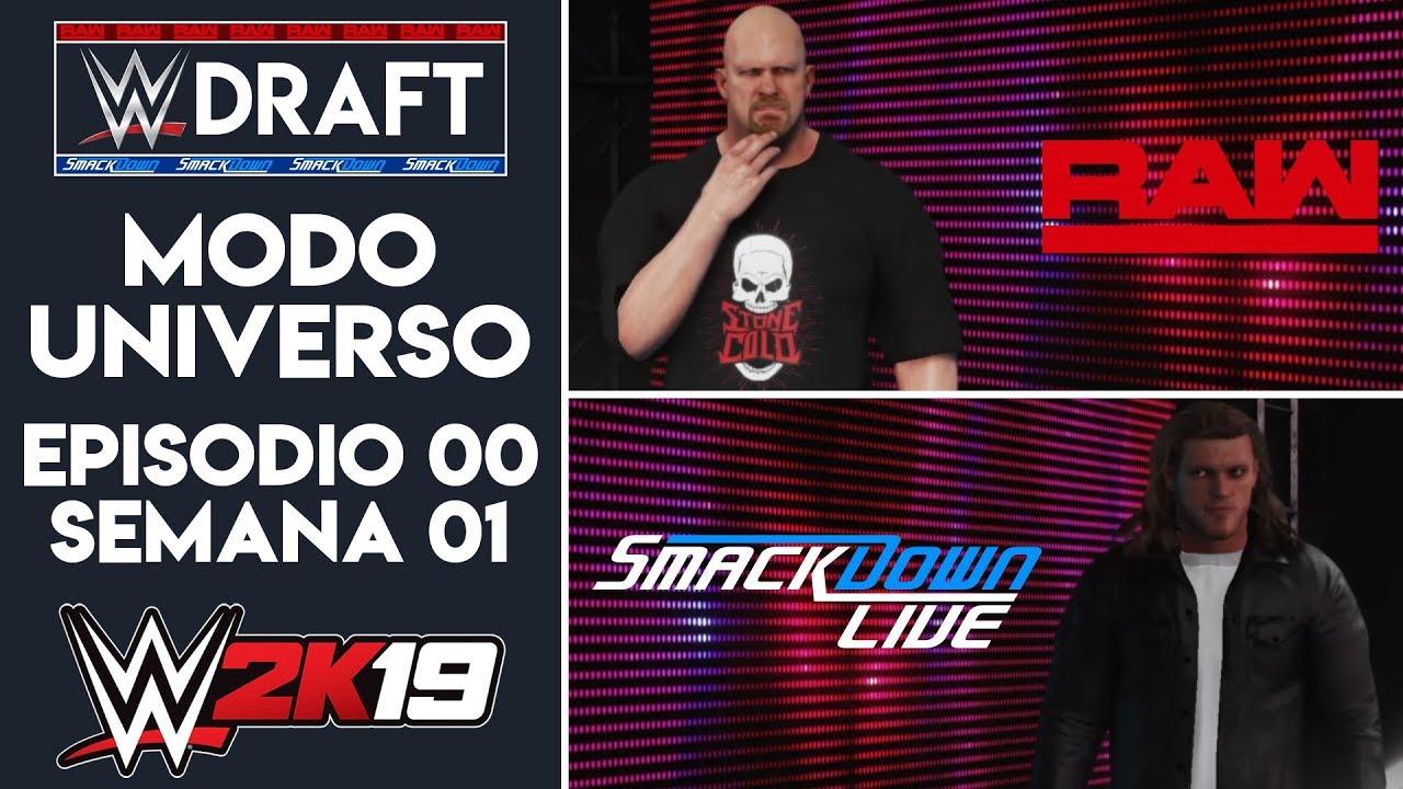 WWE 2K19 MODO UNIVERSO | Episodio #00 - El Día del Draft