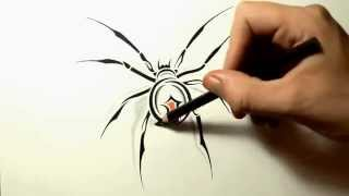How to Draw a Spider ᴴᴰ