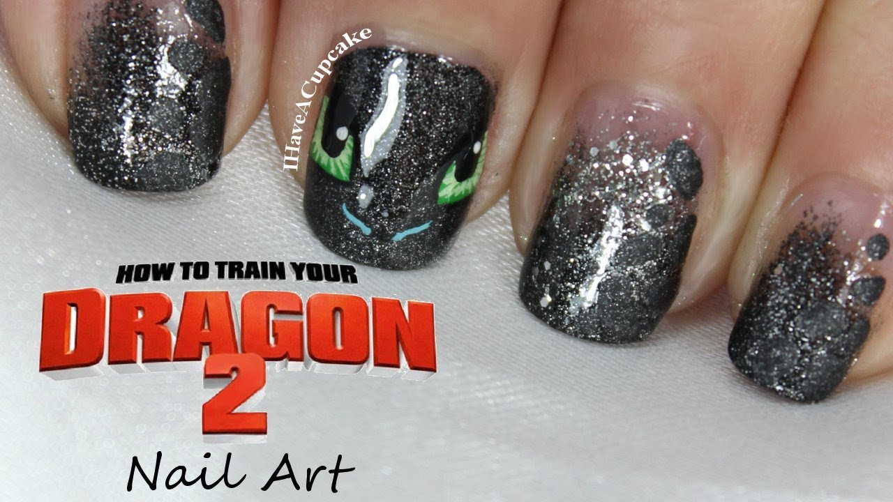 How To Train Your Dragon Nail Art - How To Train Your Dragon Nail Art - YouTube