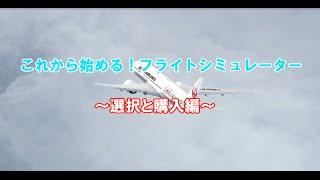 これから始めるフライトシミュレーター~選択と購入編~
