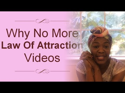 Why No More Law Of Attraction Videos | AllisonPhillips.TV