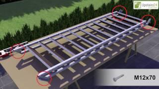 Vidéo: Escalier extérieur Hollywood WPC avec palier et 1 rampe