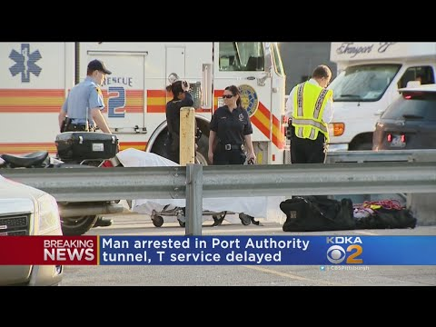 Man Walking In Tunnel Delays Port Authority T Service