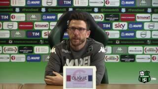 Mister Di Francesco prima di Sassuolo-Juventus