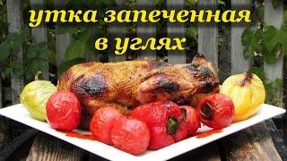 Рецепт утки запеченной в углях от Алкофана