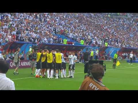 Stadium goal. France-Argentina (Gabriel Mercado) World Cup 2018