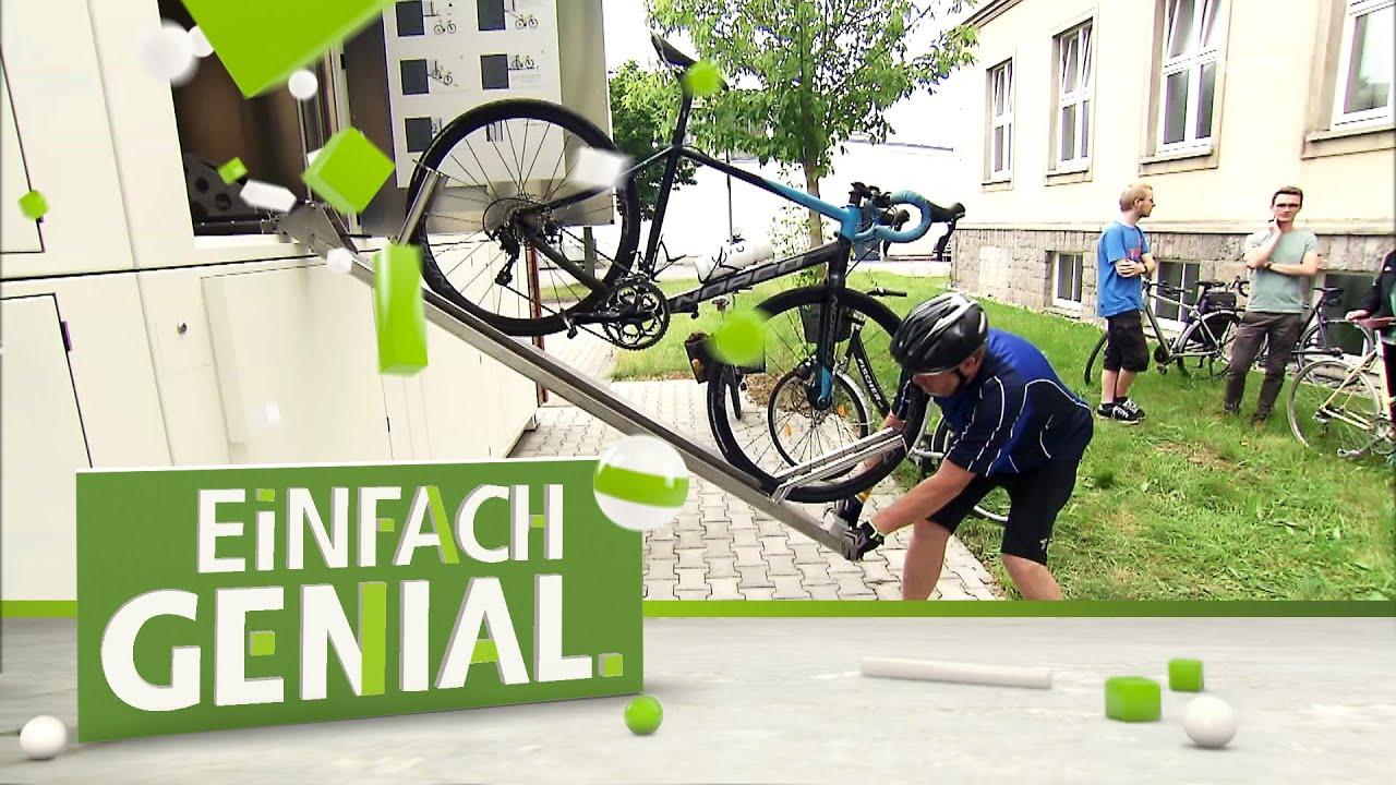 Chemnitzer Fahrradparkhaus mit integrierter Parkhilfe | Einfach genial | MDR