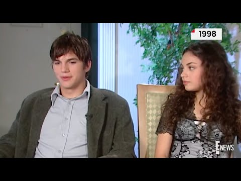 Mila Kunis and Ashton Kutcher interview 1998