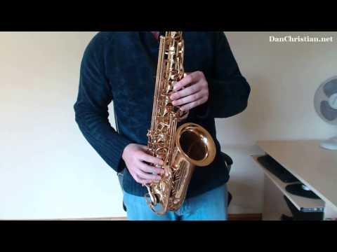 How to play G Blues riffs and licks on Saxophone (Saxophone Lesson BC408)