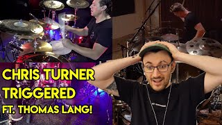 This Is UNBELIEVABLE. Drum Teacher Reacts to Chris Turner - Triggered (ft Thomas Lang)