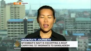 Myanmar escorting migrants to undisclosed location