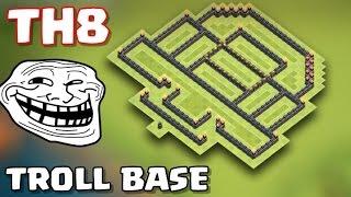 Clash Of Clans | 8.seviye Köy Binası | Troll Köy Düzeni   Th8 Noob Trolling Base