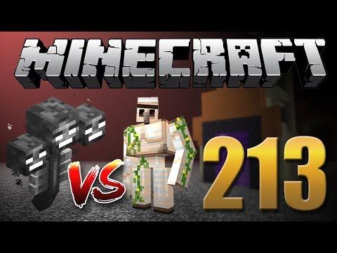 Wither Boss Vs. Iron Golem! - Minecraft Em busca da casa automática #213