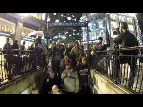 Oxford Circus Underground Entrance (5 PM Rush Hour)