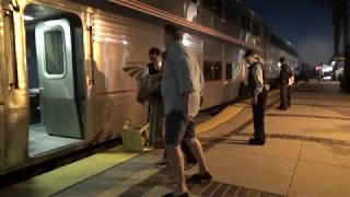 Amtrak #4 Southwest Chief departing Fullerton station with marti ann 2018-10-27