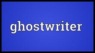Ghostwrite urban dictionary summary schreiben schlusssatz