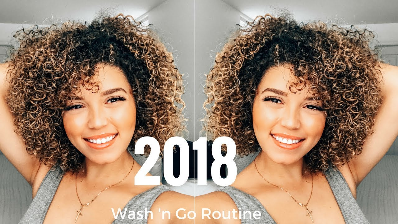 2018 wash and go routine | colour processed curls | 3b/3c curls | ashley  bloomfield
