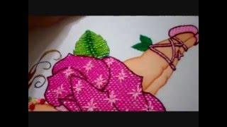 Bordado Fantasia Hoja de la Niña Rosa