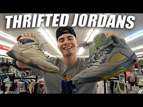 JORDAN 5s & 7s COP'T IN THE THRIFT SHOP! GUESS & OG JORDAN GRAIL!