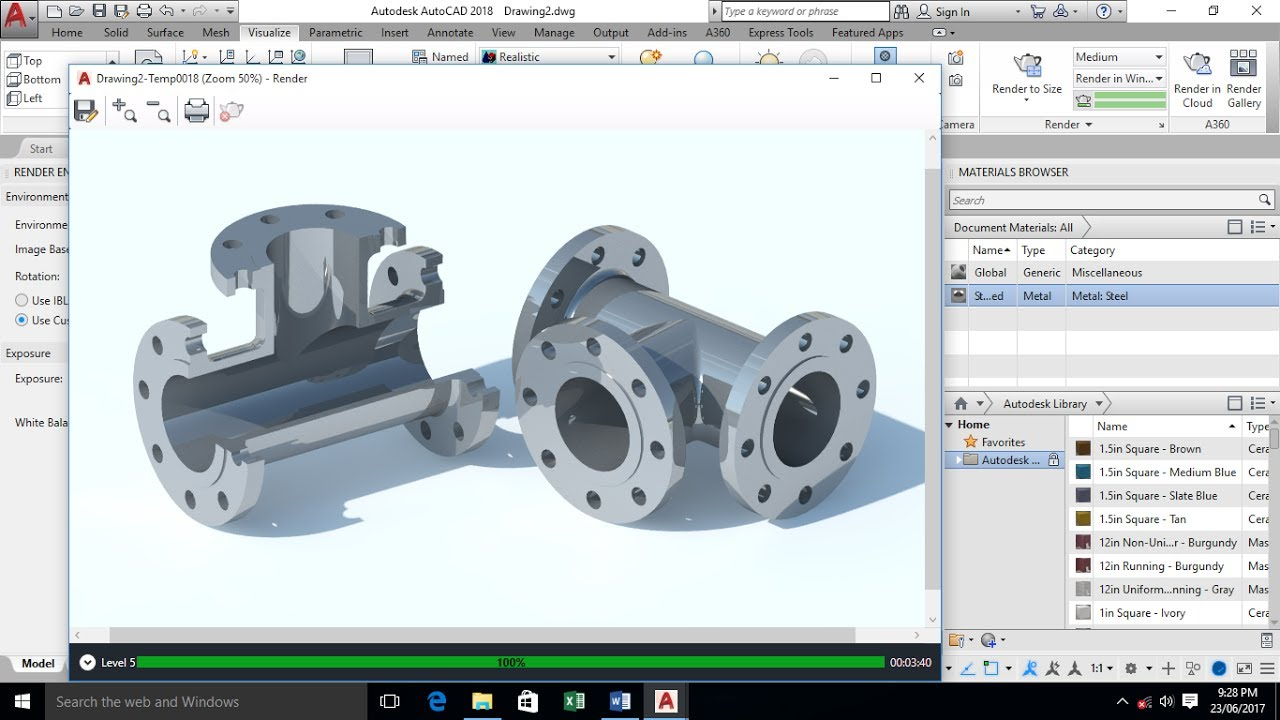 Autocad 3d Modeling 3 Way Pipe Spool Tee Autocad