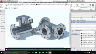 AutoCAD 3D Modeling - 3 Way Pipe Spool (TEE)  - AutoCAD 2018