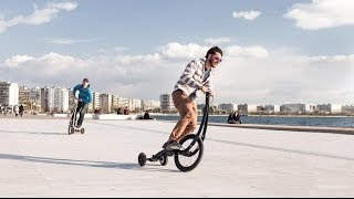 Креативный трехколесный велосипед Halfbike