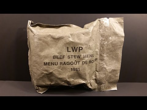 1981 Canadian LWP Lightweight Patrol Ration Vintage MRE Review Meal Ready to Eat Taste Test