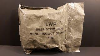 1981 Canadian LWP Lightweight Patrol Ration Vintage MRE Review Meal Ready to Eat Taste Test