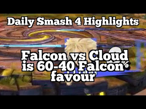 Daily Smash 4 Highlights: Falcon vs Cloud is 60-40 Falcon favour