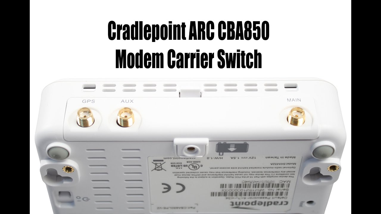 Multiband Cradlepoint Modem Carrier Switch