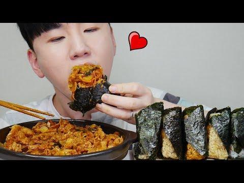 삼각김밥에 돼지두루치기를...Pork belly + Triangular Kimbap 리얼사운드 먹방 Mukbang ASMR DoNam 도남이먹방