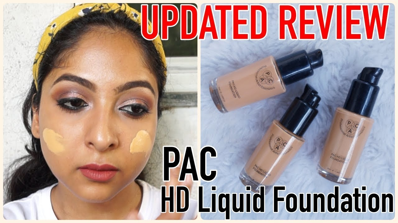 UPDATED: PAC HD LIQUID FOUNDATION REVIEW & SWATCHES | 24 Shades | Stacey  Castanha