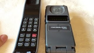 The two vintage Motorola cellular phones for which I am nostalgic