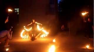 Огненное шоу, фаер шоу - Выступление на свадьбе Омск