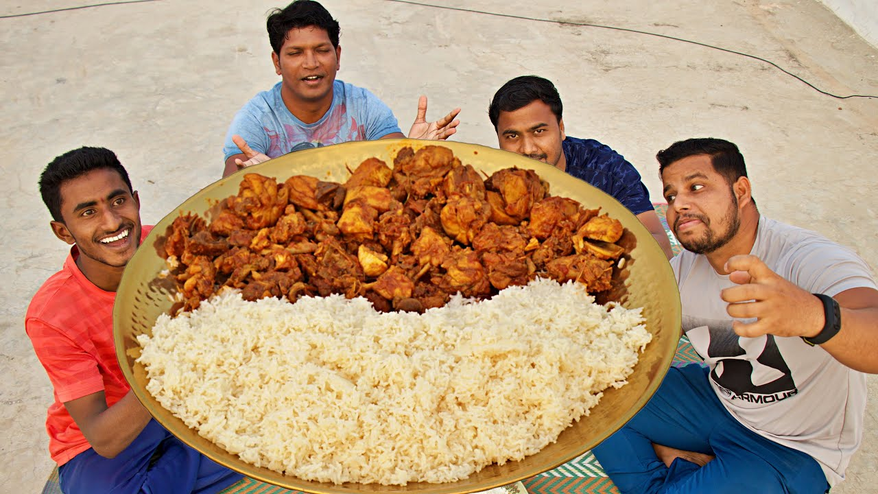 CHICKEN FRY WITH WHITE RICE EATING CHALLENGE FOR FUN
