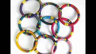 Fashion silk thread wrap bangles.wmv Thumbnail
