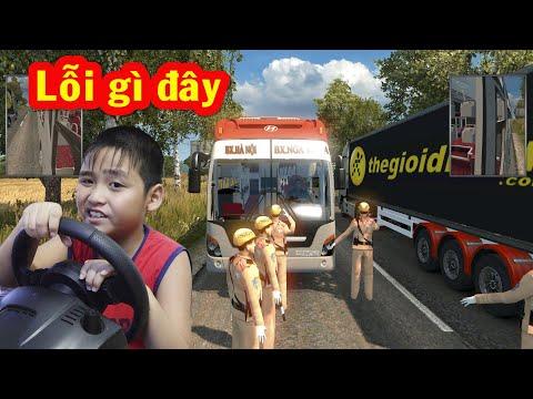 Bé Dương lái xe Universe ETS2 chở khách đi Nam Định